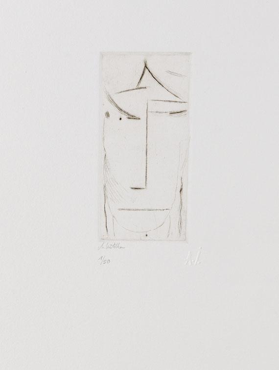 Alexej von Jawlensky - Kopf (zurückweichend) 2/50