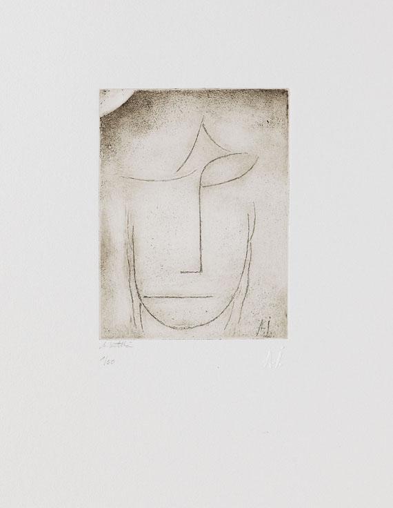 Kopf (überlegend). Um 1923.