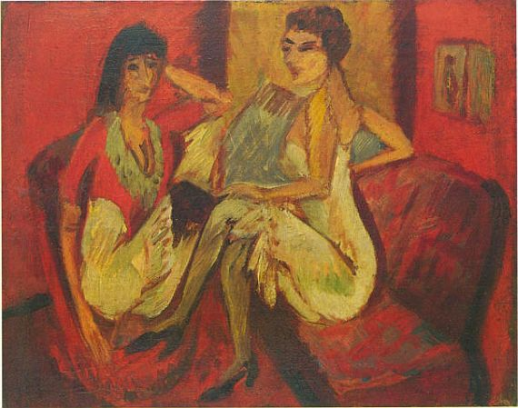 Ernst Ludwig Kirchner - PLAUDERNDE MÄDCHEN