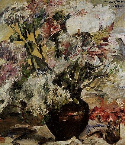 Lovis Corinth - Amaryllis, Flieder,Anemonen