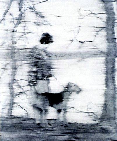 Gerhard Richter - Frau mit Hund am See