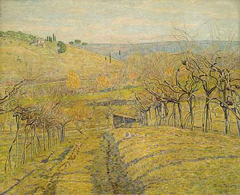 Paul Baum - Toskanische Hügellandschaft bei San Gimignano