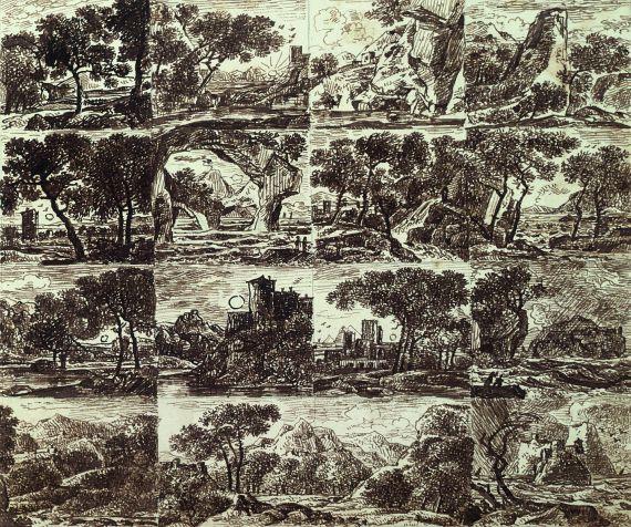 Franz Kobell - Ca. 188 Bll. Landschaftsstudien und Skizzen, häufig mit Staffage