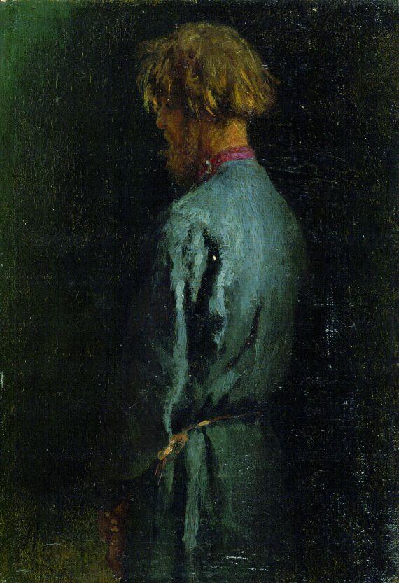 Ilya (Elias) Efimovich Repin - Mann im blauen Russenkittel