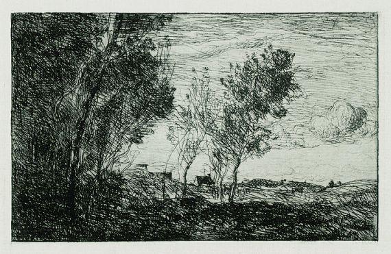 Jean-Baptiste-Camille Corot - Dans les Dunes: Souvenir du Bois de La Haye