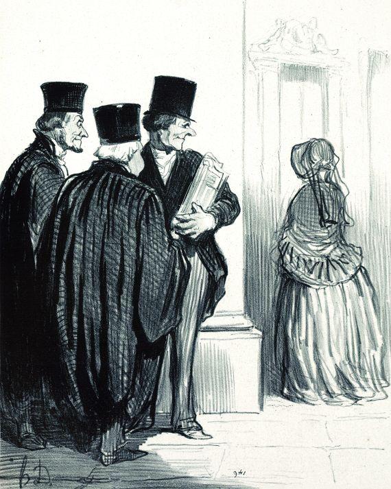 Honoré Daumier - 2 Bll. aus: Les Gens de Justice