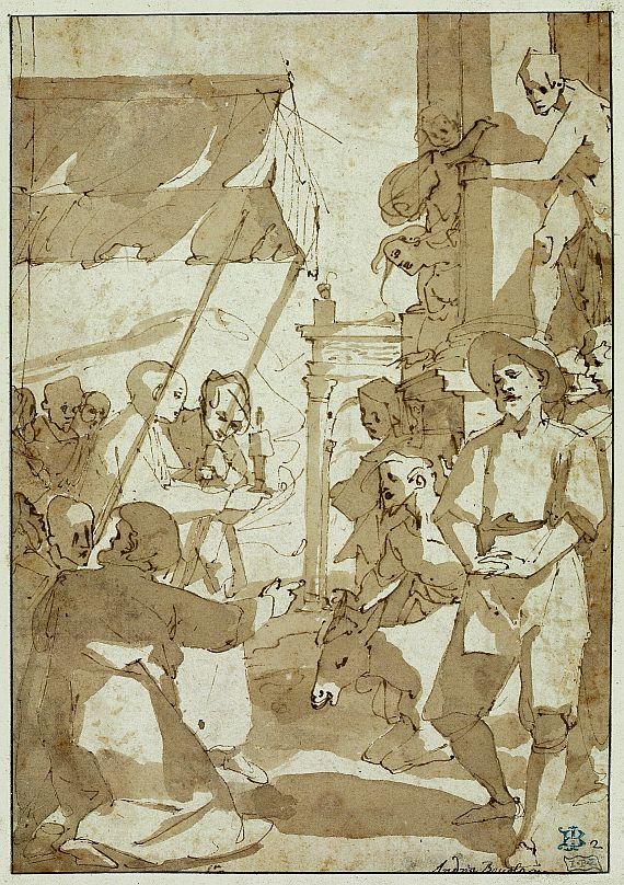 Andrea Boscoli - Das Eselswunder - Szene aus dem Leben des Hl. Antonius von Padua