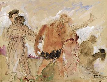 Lovis Corinth - Heimkehrende Bacchanten