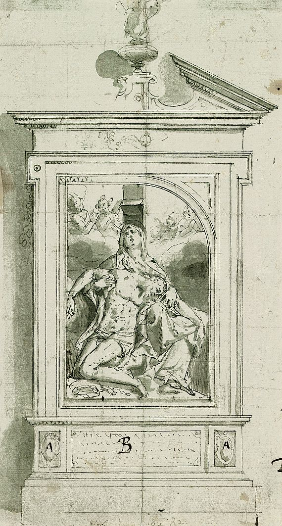 Pieter Candid (de Witte) - Pietà (Altarentwurf)
