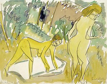 Erich Heckel - Mädchen im Wald