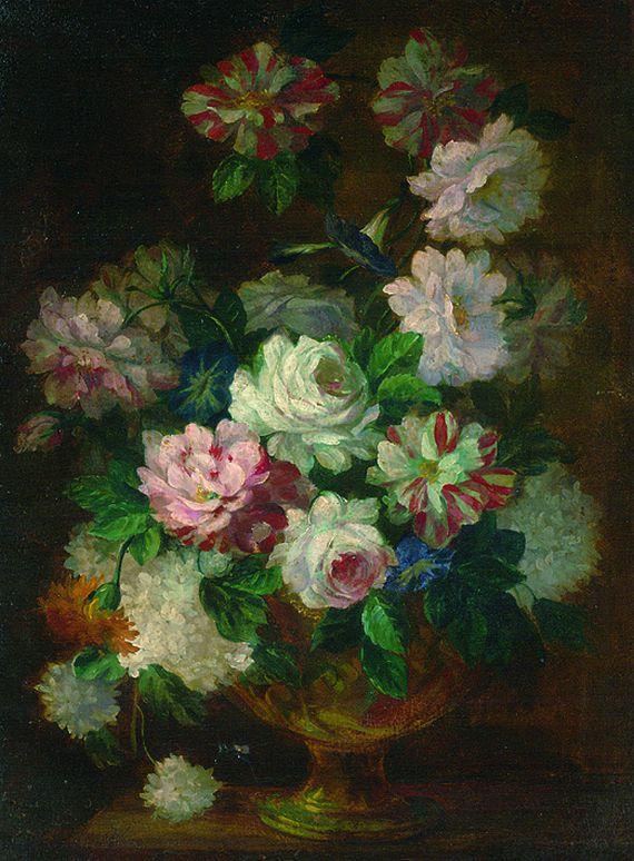 Italienischer Meister - Blumenstillleben