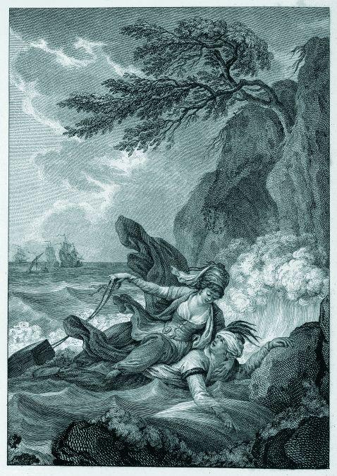 Jean de La Fontaine - Contes et nouvelles. Illustr. nach Fragonard. 2 Bde. 1795.