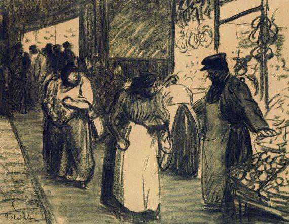 Théophile Alexandre Steinlen - Le marché