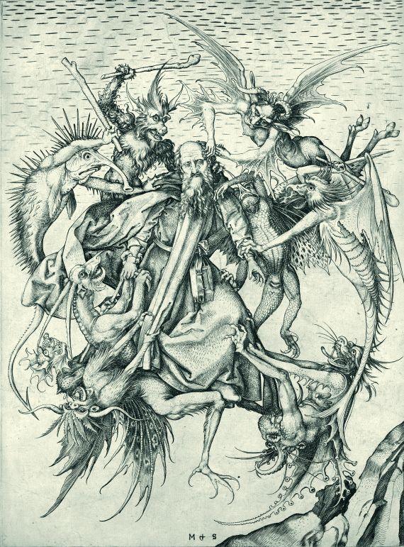 Martin Schongauer - St. Antonius von Dämonen gepeinigt