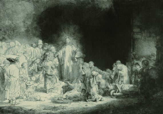 Rembrandt - Christus heilt die Kranken. - Genannt: Das Hundertguldenblatt