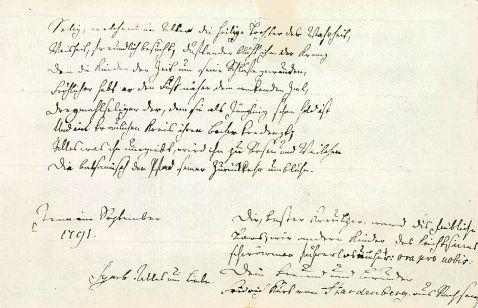 - Stammbuch des Theologen L. Creutzer, Jena 1791.