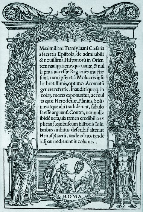 Maximilianus Transsylvanus - Caesaris a secretis epistola