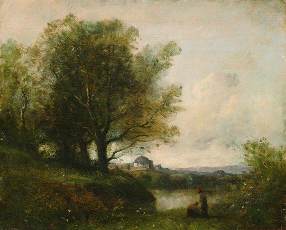 Jean-Baptiste-Camille Corot - Umkreis - Weite Landschaft