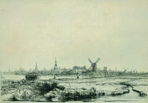 Rembrandt - Ansicht von Amsterdam