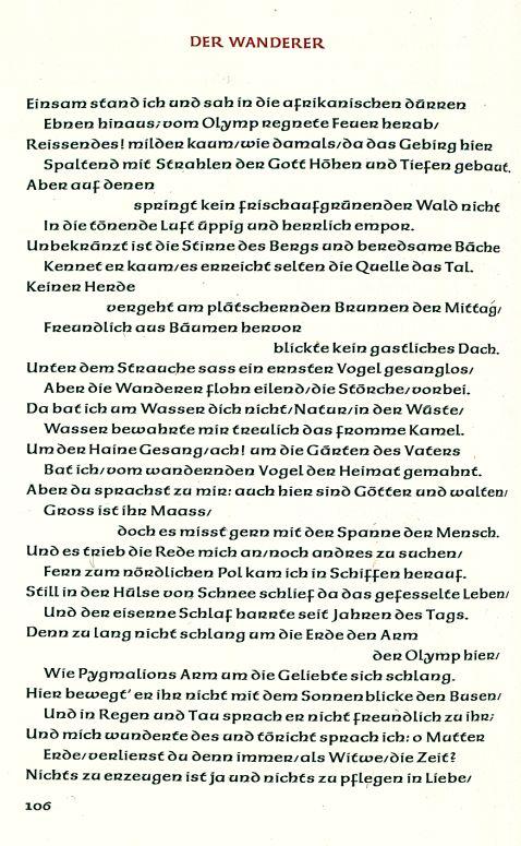 Friedrich Hölderlin - Gedichte. 1949.