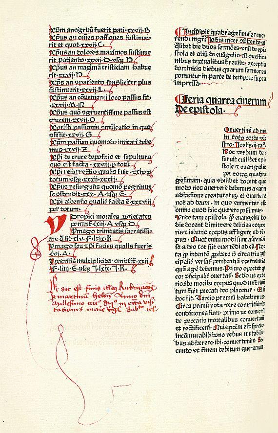 Johannes Nider - Sermones de tempore et de sanctis. 1479.