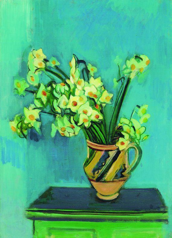 Rudolf Levy - Narzissen in Keramikkrug