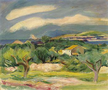 Rudolf Levy - Küstenlandschaft bei Sanary