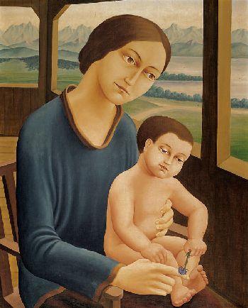 Georg Schrimpf - Mutter mit Sohn