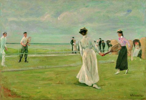 Liebermann - Tennisspieler am Meer - 1. Fassung