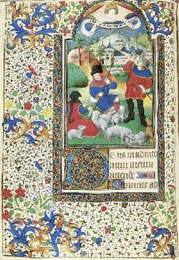 Stundenbuch - Pergamenthandschrift mit 11 Miniaturen (wohl Paris, ca. 1450-60).