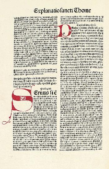 Thomas von Aquin - Commentaria in omnes epistolas beati Pauli. 1495.