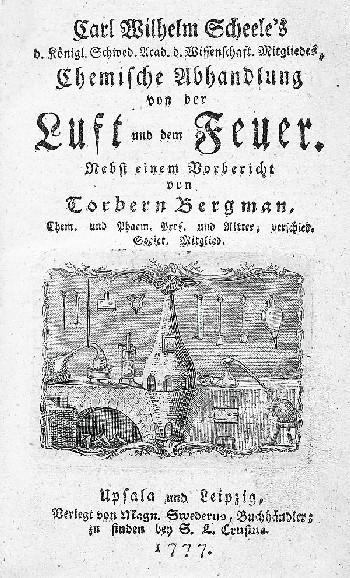 Carl Wilhelm Scheele - Chemische Abhandlung von der Luft. 1777. EA
