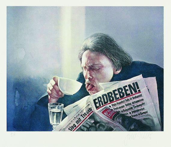 Gottfried Helnwein - Leitartikel Erdbeben