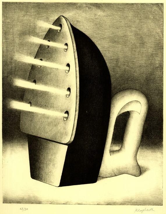 Konrad Peter Cornelius Klapheck - 2 Bll.: Sportschuh. Dampfbügeleisen (Die Schwiegermutter)