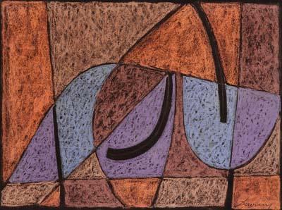 Heinrich Maria Davringhausen - Abstrakte Komposition