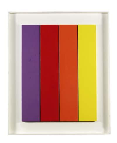 Hermann Bartels - Vier farbige Streifen