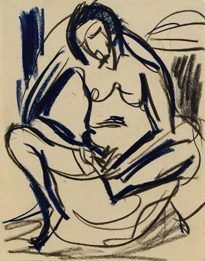 Ernst Ludwig Kirchner - Sitzender weiblicher Akt