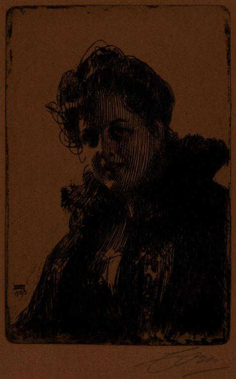 Anders Zorn - Mrs. Granberg