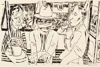 Max Beckmann - In der Trambahn