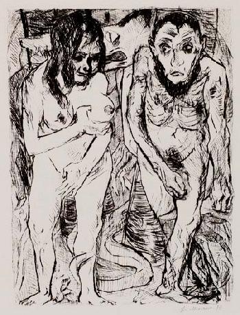 Max Beckmann - Adam und Eva