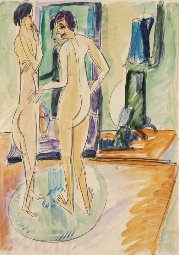 Ernst Ludwig Kirchner - Zwei nackte Mädchen am Ofen
