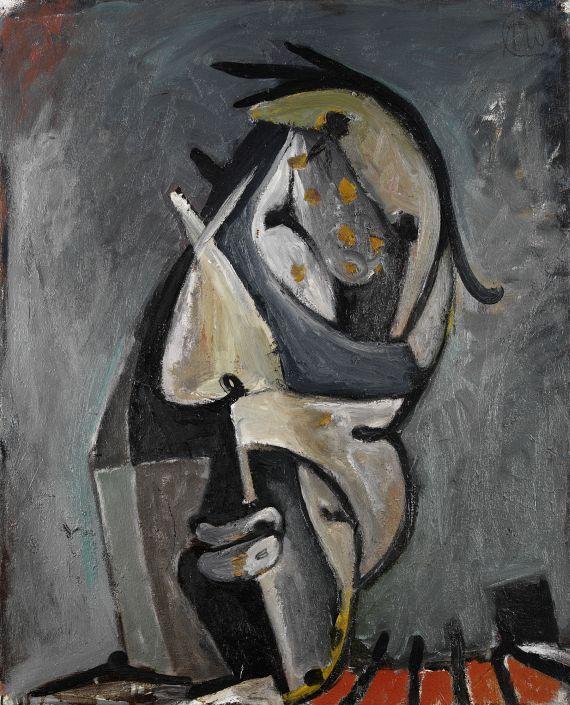 Markus Lüpertz - Porträt eines Straßenarbeiters