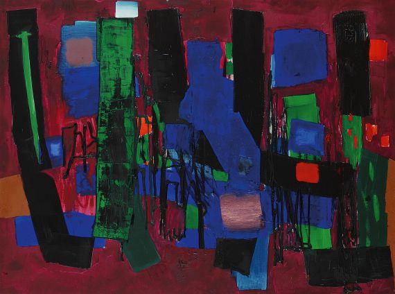 Fritz Winter - Kommendes Blau und Rot