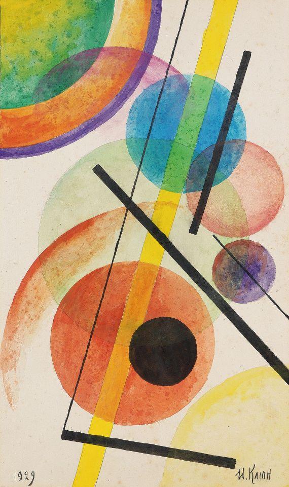 Ivan Vasilievich Kliun - Komposition mit schwarzen Linien
