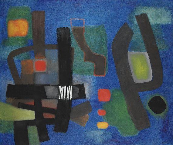 Fritz Winter - Große Komposition vor Blau