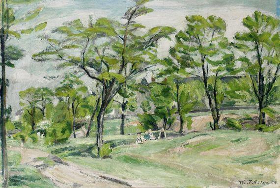 Waldemar Rösler - Landschaft mit spielenden Kindern