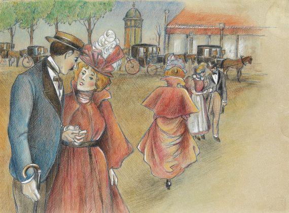 Théophile Alexandre Steinlen - Les Amoureux du Dimanche