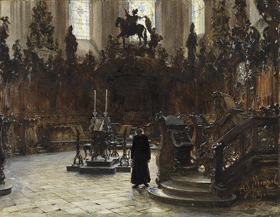 Adolph von Menzel - Das Chorgestühl im Dom zu Mainz