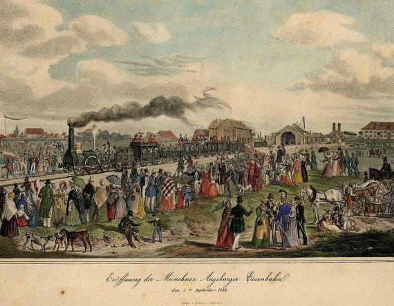 Gustav Kraus - Eröffnung der Münchner-Augsburger Eisenbahn den 1ten September 1839.