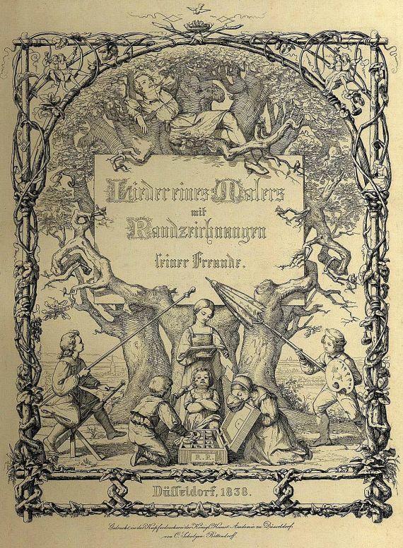 Rudolf Reinick - Lieder eines Malers. 1838.